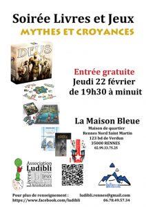 Soirée Livres et Jeux @ La Maison Bleue / Espace lecture St-Martin | Rennes | Bretagne | France
