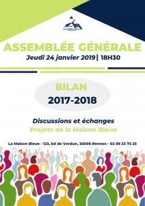 Assemblée Générale- projets de la Maison Bleue, discussions et échanges @ La Maison Bleue | RENNES | France