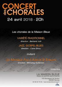Concert des Chorales @ La Maison Bleue | Rennes | Bretagne | France