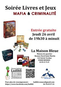 Soirée Livres et Jeux @ La Maison Bleue / Espace-lecture St-Martin | Rennes | Bretagne | France
