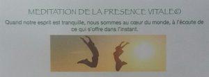 Méditation de la Présence Vitale© @ La Maison Bleue | Rennes | Bretagne | France