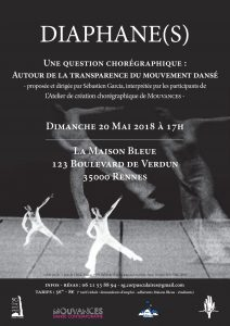 Spectacle - Diaphane(s), une question chorégraphique @ La Maison Bleue | Rennes | Bretagne | France