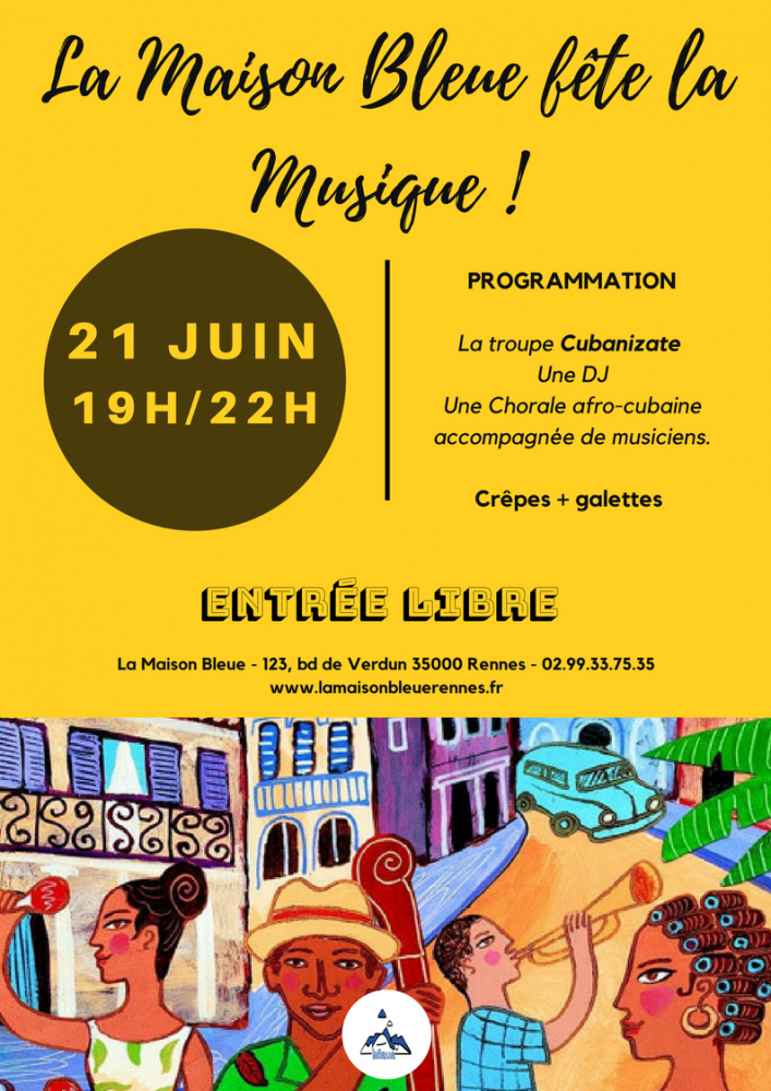La Maison Bleue fête la musique ! @ La Maison Bleue - Maison de Quartier Rennes Nord | Rennes | Bretagne | France