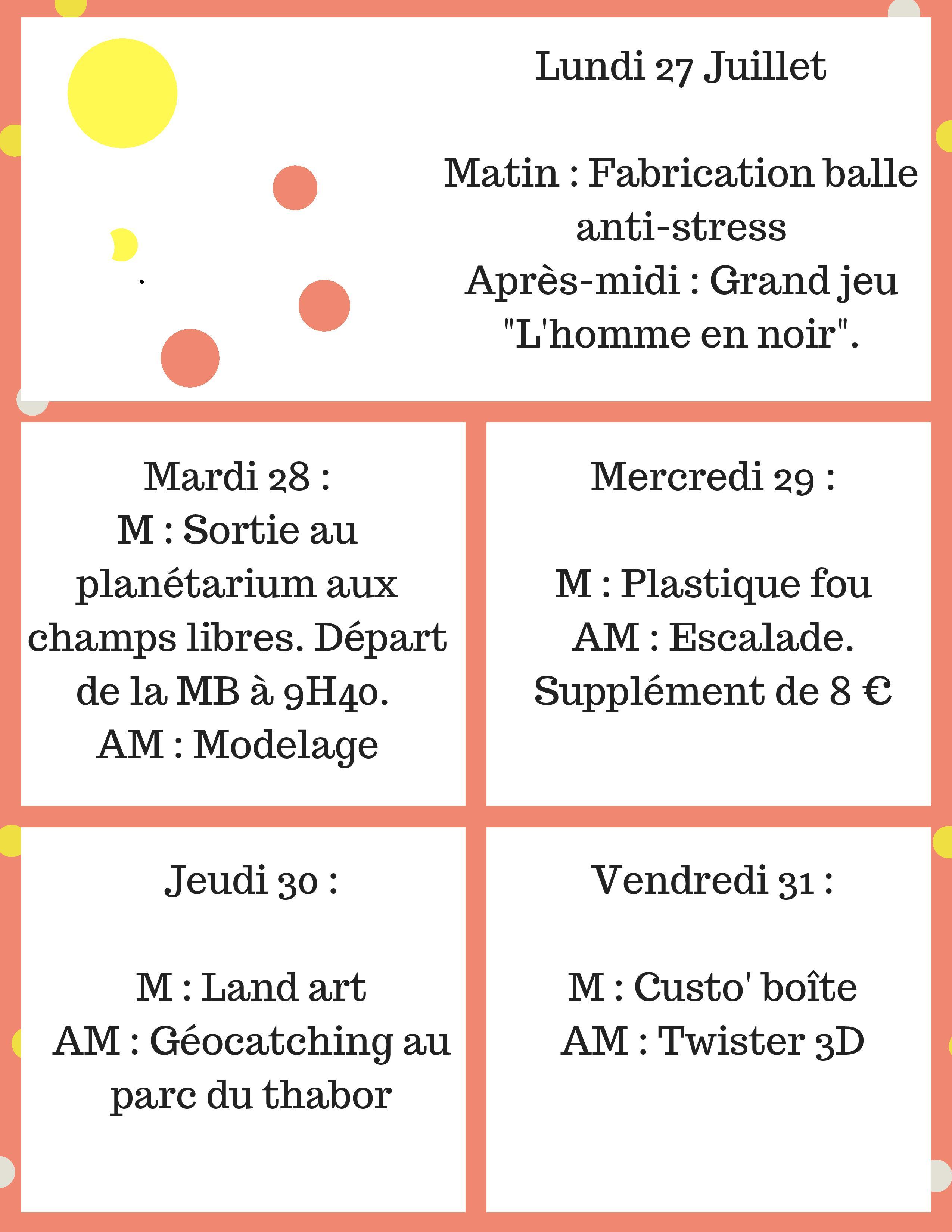 Programme activités 6/9 ans @ Maison Bleue | Rennes | Bretagne | France