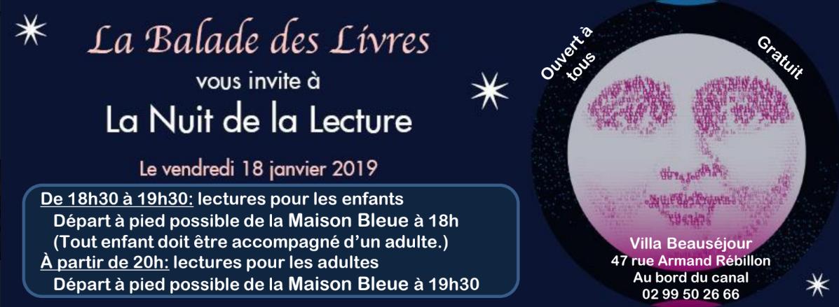 La Nuit de la lecture avec La Balade des Livres @ La Maison Bleue  | Rennes | Bretagne | France