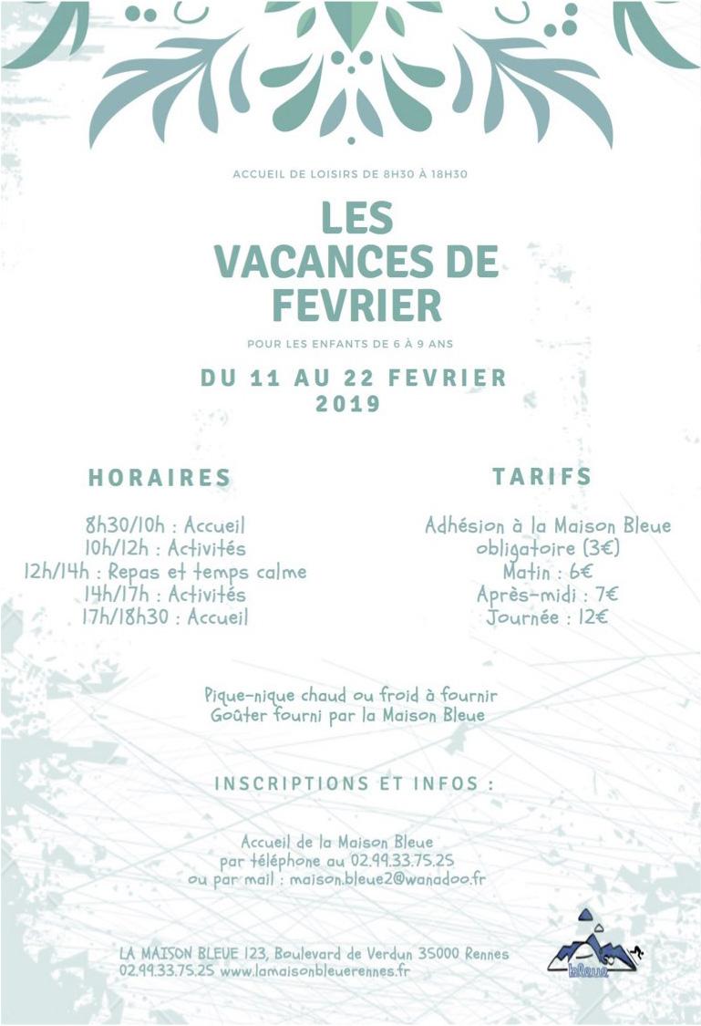 [Enfance] Programme vacances d'Hiver @ La Maison Bleue | Rennes | Bretagne | France