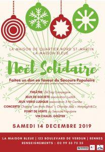 Noël Solidaire @ La Maison Bleue | Rennes | Bretagne | France